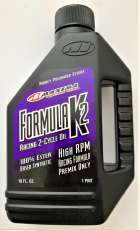 Maxima 22916 Formula K2 2-Stroke Synthetic Racing Premix Oil - 16 oz. Bottle